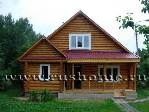 Баня 9х6 5 из бревна деревянные дома
