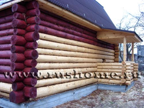 покраска деревянных домов фото.