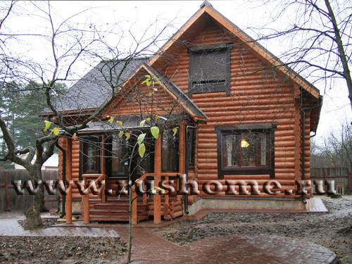 Фото фасадов домов из бревна
