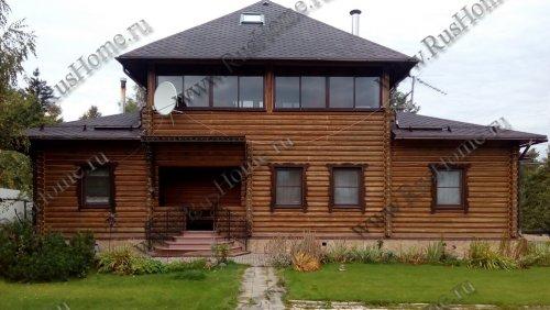 Дом из оцилиндровки из сосны