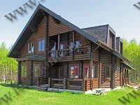 Дом из оцилиндрованного бревна из сосны