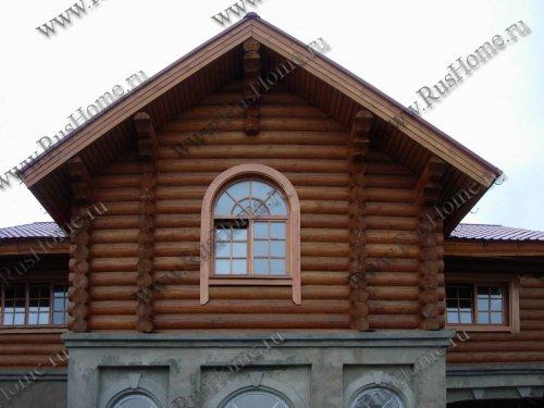 Дом из оцилиндрованного бревна из лиственницы