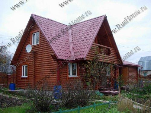 Дом из сухого оцилиндрованного бревна камерной сушки