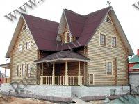 Дом из сухого оцилиндрованного бревна