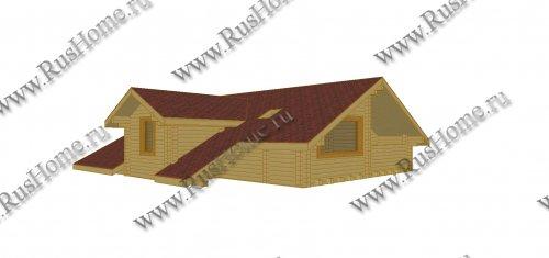 Проект деревянной части комбинированного дома