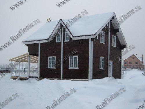 дом из клееного бруса лиственницы
